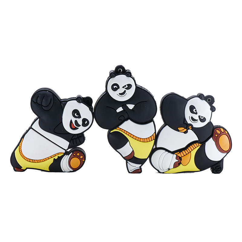 Kung Fu Panda Usb Flash Drive 32GB 16GB 8GB 4GB Pendrive 64GB 128GB 256GB Cartoon Memory Usb Stick Anime Pen Drive U Stick