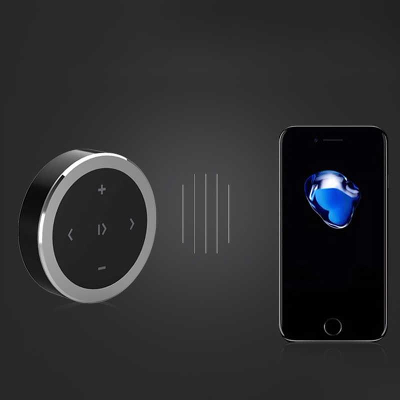 Draadloze Bluetooth Afstandsbediening Auto Stuurwiel Motorcycle Fietsstuur Media Knop Voor Ios Android Telefoon Auto Kit