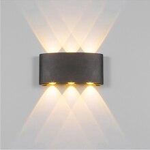 2 Вт 4 Вт 6 Вт 8 Вт светодиодный настенный светильник Открытый водонепроницаемый современный нордический стиль комнатные настенные лампы гостиная крыльцо садовая лампа AC90-260V