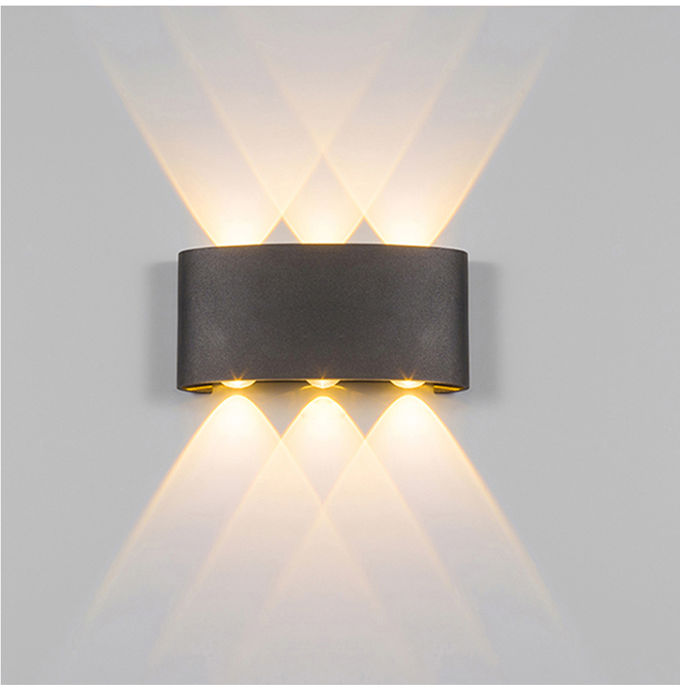 2W 4W 6W 8W LED โคมไฟติดผนังกันน้ำ Modern Nordic สไตล์ในร่มโคมไฟ Living room Porch โคมไฟสวน AC90-260V