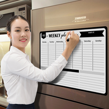Whiteboard Refrigerator Planner Magnetic Daily-Message Fridge Weekly Drawing Flexible