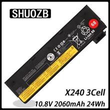 Bateria do portátil para Lenovo Thinkpad X240 X270 X260 X240S X250 T450 T470P T450S T440S K2450 W550S 45N1136 45N1738 3 celular 2060mAh