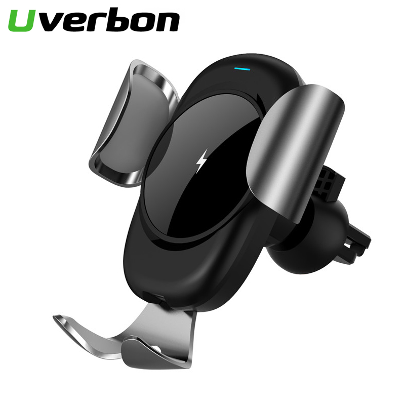 10W Wireless Charger Car Phone Holder For IPhone 11 11Pro Max Samsung S10 S9 S8 Fast Charging Wireless Car Holder Stand Charger
