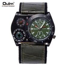 Oulm оригинальные модные мужские часы компас термометр военные