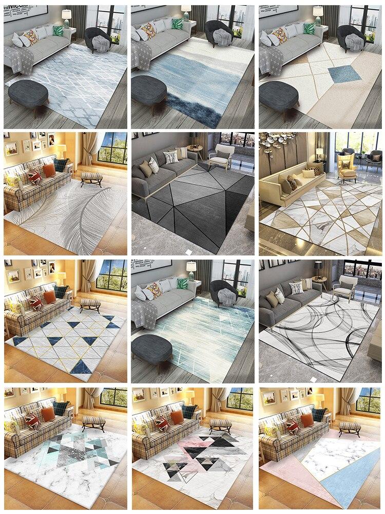 Moderne simple tapis chambre salon lumière deluxe chevet table basse couverture noir matelas gratuit famille