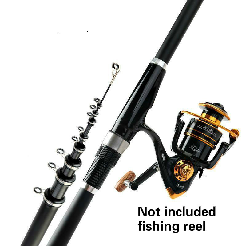 Carbon Fiber Telescopic Fishing Rod Ultra Light Spinning Fishing Rod 2.4-7.2m