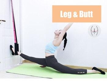 Correa de estiramiento de pierna ajustable para mujeres Ballet Cheer danza gimnasia entrenador Yoga cinturón de estiramiento de alta resistencia Yoga