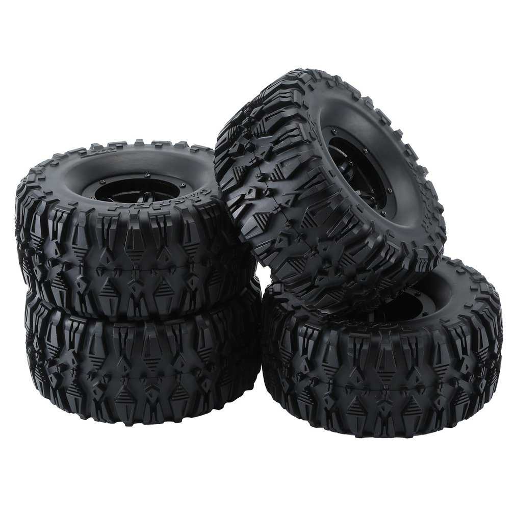 4PCS 2.2 Inch Rubber Tires Pneumatic Tire 135/62 Axe Torch Tread Car Set for RC Rock Crawler Remote Control Car Tyres