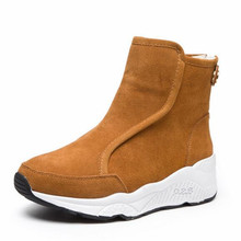 ZXRYXGS Brand Warm winter boots Women Shoes Boots Snow Boots 2020 New Winter Sneaker Casual Shoes Flat Wedges Cow Leather Boots zxryxgs brand shoes woman single ankle boots 2018 new fashion warm comfort plus velvet and wool snow boots genuine leather boots