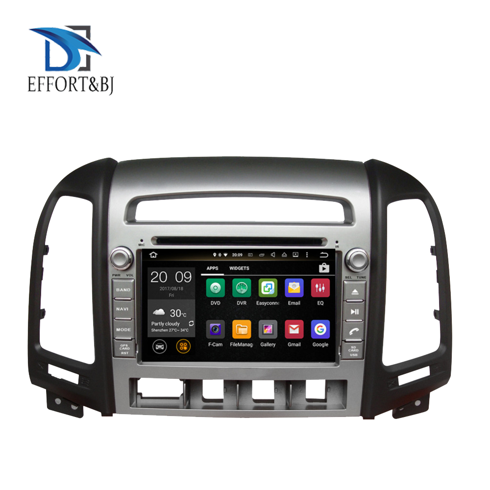 Android 9.0 Octa Core 4GB RAM Car DVD Player <font><b>GPS</b></font> Head Unit For <font><b>HYUNDAI</b></font> <font><b>SANTA</b></font> <font><b>FE</b></font> 2006-2012 4 holes Car Radio Stereo Multimedia image