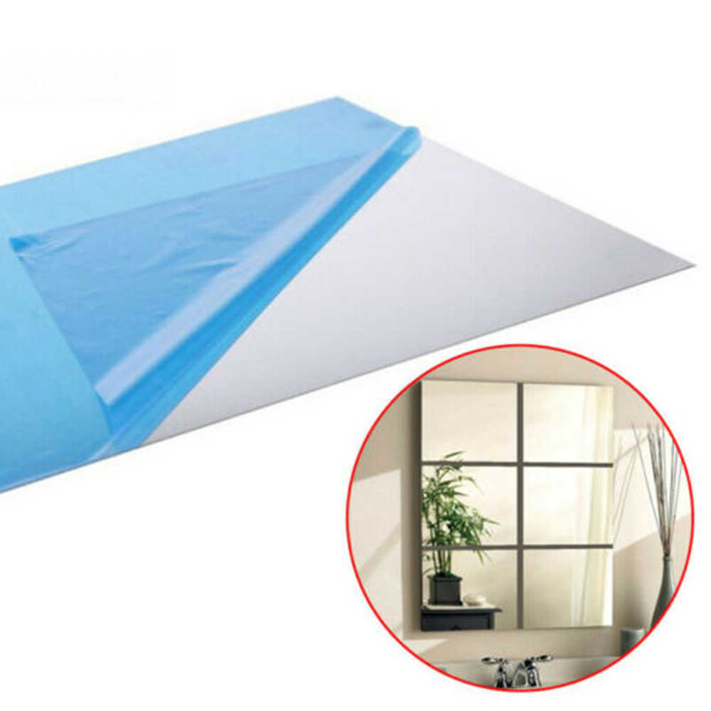 9 PC/16 PC 15 ซม.Silver Square กระจกกระเบื้องสติ๊กเกอร์ติดผนัง Decal Home Bath ห้องรับแขกผนังกระจกสติกเกอร์รูปลอก Self-adhesive Decor
