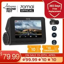 $10 70M4KBR22 70mai Dash Cam 4K A800S Dual Sight 70mai A800S GPS ADAS Front and Rear Car DVR 2160P 4K 24H Parking 140FOV