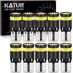 Katur 10x W5W T10 LED Canbus Bulb No OBC Error Clearance Parking Lights For Peugeot 206 207 307 3008 2008 308 408 508 301 208