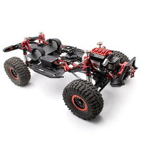 KYX Metal Planetary Gear Transmission Transfer Skid Plate Kit Upgrade for RC Crawler Car Axial SCX10 II 90046