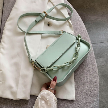 Solid Color Small PU Leather Crossbody Bags For Women 2020 Summer Chain Designer Lady Travel Shoulder Messenger Handbags