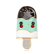Alloy Exquisite Cute Trend Cartoon Ice Cream Brooch Pins  for Girl Women Fashion Corsage Accessories Wholesale