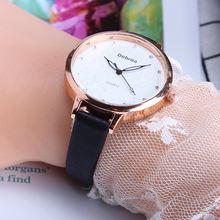 Часы наручные женские с кожаным ремешком Простые Модные Повседневные