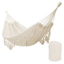 Nordic Style White Hammock Outdoor Indoor Garden Dormitory Bedroom Hanging Chair For Child Adult Swinging Single Safety