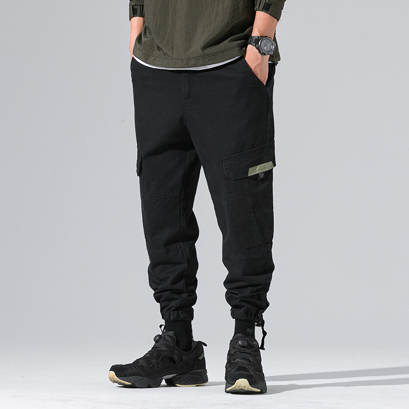 Ancient Also Men'S Wear Shu 2018 Autumn New Style Multi-pockets Casual Pants Bib Overall