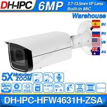 Dahua IPC HFW4631H ZSA 6MP IP מצלמה 2.7 ~ 13.5mm 5X זום VF עדשה מובנית מיקרופון SD כרטיס חריץ poE מצלמה HFW4631H ZSA