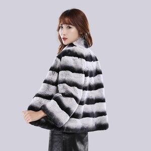 Image 3 - 2020 Hot Sale Women Winter Hight Quality Real Rex Rabbit Fur Coat Russia Lady Warm Natural 100% Genuine Rex Rabbit Fur Jacket