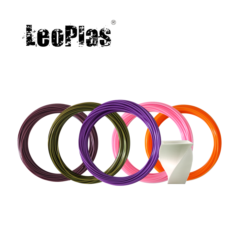 LeoPlas 1.75mm 10 and 20 Meters 50g PP Filament Sample For FDM 3D Printer Pen Consumables Printing Supplies Plastic Material