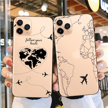 Newest World Map Travel Just Go clear Soft silicone Back iPhone cover case for 11 Pro SE 2020 Max XR XS X 6s 7 8Plus Capa