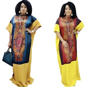 Fashion Abaya Dubai Muslim Hijab Dress Printed European Clothes Turkey Robe Kaftan Eid Abayas For Women Ramadan Dresses DCC487