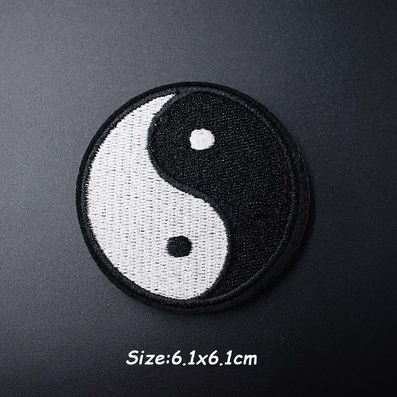 Черно-белая ткань для экспрессии Mend украшает утюжок на патч одежда шитье украшения аппликация вышивать на пачках для одежды - Цвет: AF