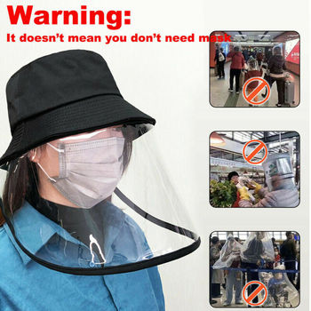 Kids Children Anti Flu Virus Protection Hats With Full Face Eyes Mask Face Cover Cap For Adults Children NEW Bucket Hat