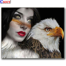 diamond embroidery beauty girl mosaic crystal 5d cross stitch full square drill diamond painting diy sticker decor paintings 5D DIY Diamond Painting Beauty & Eagle Diamond Mosaic Drawing Full Square Round Drill Diamond Embroidery Cross Stitch Home Decor