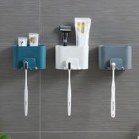 Neue Wand-Montiert Zahnbürste Halter Bad Punch-Freies Zahn Tasse Rack Haushalt Wand-Montiert Mundwasser Tasse Halter lagerung Box