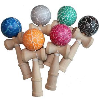 Fitness dla dzieci rozrywka drewniana zabawka edukacyjna miecz piłka Kendama piłka do żonglerki wypoczynek na świeżym powietrzu sport umiejętność zabawkowa piłka tanie i dobre opinie DOYOQI D4561 5-7 lat Dorośli 6 lat 8 lat Unisex Żonglerka piłka none Drewna wooden About 18 * 6 5 * 6cm Wooden toys under 14