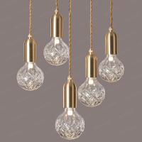 Nordic modern minimalist creative restaurant light clothing store window decoration glass bar LED small Pendant lights