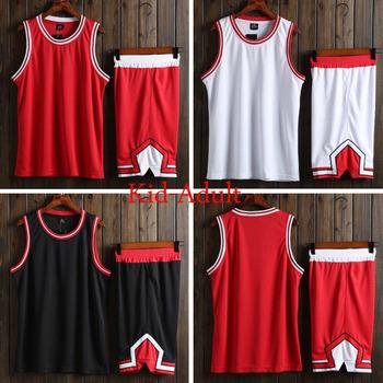Niestandardowe mężczyźni uniwersyteckie koszulki koszykarskie strój do koszykówki dla dzieci jednolite dziecko tanie koszykówka T Shirt niestandardowe zestawy Jersey ubrania czerwone tanie i dobre opinie NoEnName_Null POLIESTER bez rękawów CN (pochodzenie) Skompresowany Zapobiega marszczeniu oddychająca Odporna na mechacenie