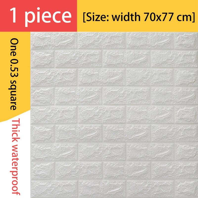 NEW 3D Wall Stickers Imitation Brick Bedroom Decor Waterproof Self-adhesive Wallpaper For Living Room Kitchen TV Backdrop Decor