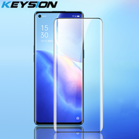 KEYSION de vidrio templado para OPPO Reno 5 Pro 5G transparente película protectora de pantalla completa para Realme 7 5G 8 Pro 7i X7 V5 Q2 C20 C15
