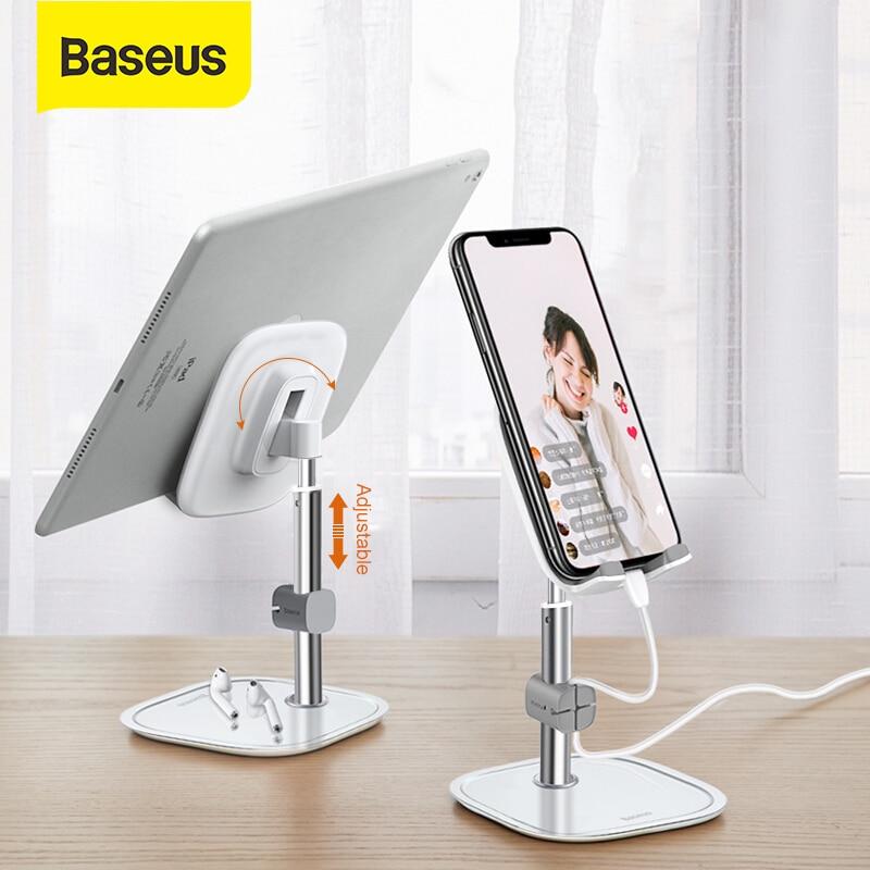 Baseus Desk Phone Holder Tablet Holder Pad Telescopic Universal Desktop Holder Stand For Cellphone Mobile Phone Stand Mount