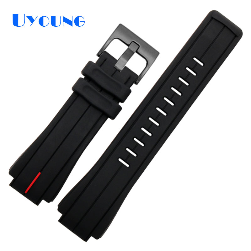 Sports Silicone Watch Strap For Gshock16mm Gst-b200 Replace Waterproof Watch Band Rubber Black Trend Simplicity Watch Bracelet