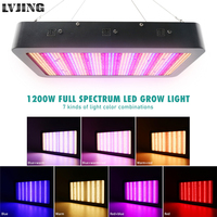 New 1200W LED Grow Light Full Spectrum Timing 3 Switches 7 Light Modes Phyto Lamp for Indoor Greenhouse All Plant Growing Stages