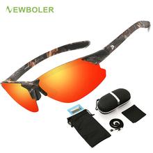 Okulary wędkarskie Outdoor Sport okulary przeciwsłoneczne okulary wędkarskie mężczyźni okulary wspinaczka kolarstwo okulary przeciwsłoneczne okulary z polaryzacją wędkarstwo tanie tanio NEWBOLER GOG041 Spolaryzowane okulary