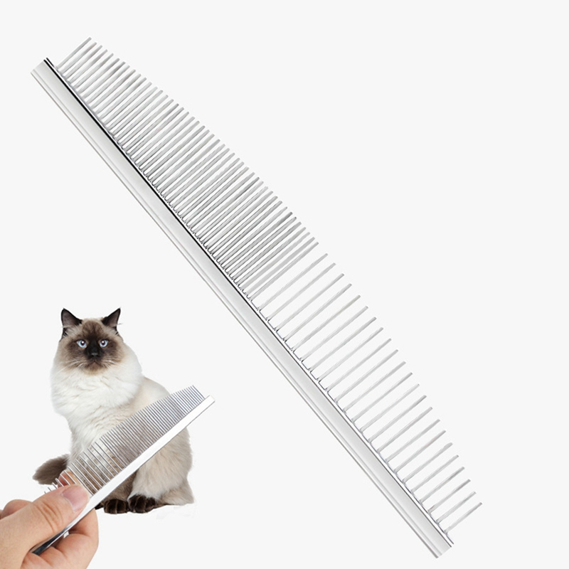 Pet Cat /& Dog Grooming Comb with Fine Steel Tooth YM