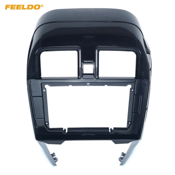 "FEELDO Car 2Din Stereo Radio Fascia Frame Panel For Nissan Sunny/Almera(RHD) 9"" DVD GPS Navigation Dash Face Cover Trim Kit"