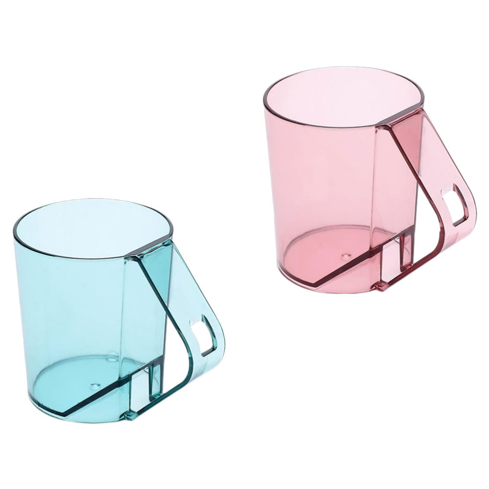 2Pcs Household Washing Cups with Toothbrush Hole Creative Design Toothbrush Cups
