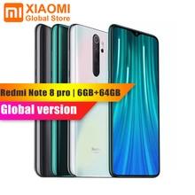 Globale Version Xiaomi Hinweis 8 Pro 6GB RAM 64GB ROM Handy Helio G90T Quick Charge 4500mAh batterie 64MP Cam NFC SmartPhone
