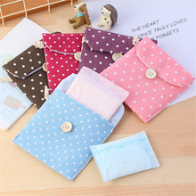 Girls Diaper Sanitary Napkin Storage Bag Canvas Sanitary Pads Package Bags Coin Purse Jewelry Organizer Credit Card Pouch 2017 new casual candy color bags for girl cotton diaper sanitary napkin package bag storage organizer makeus bag free shipping