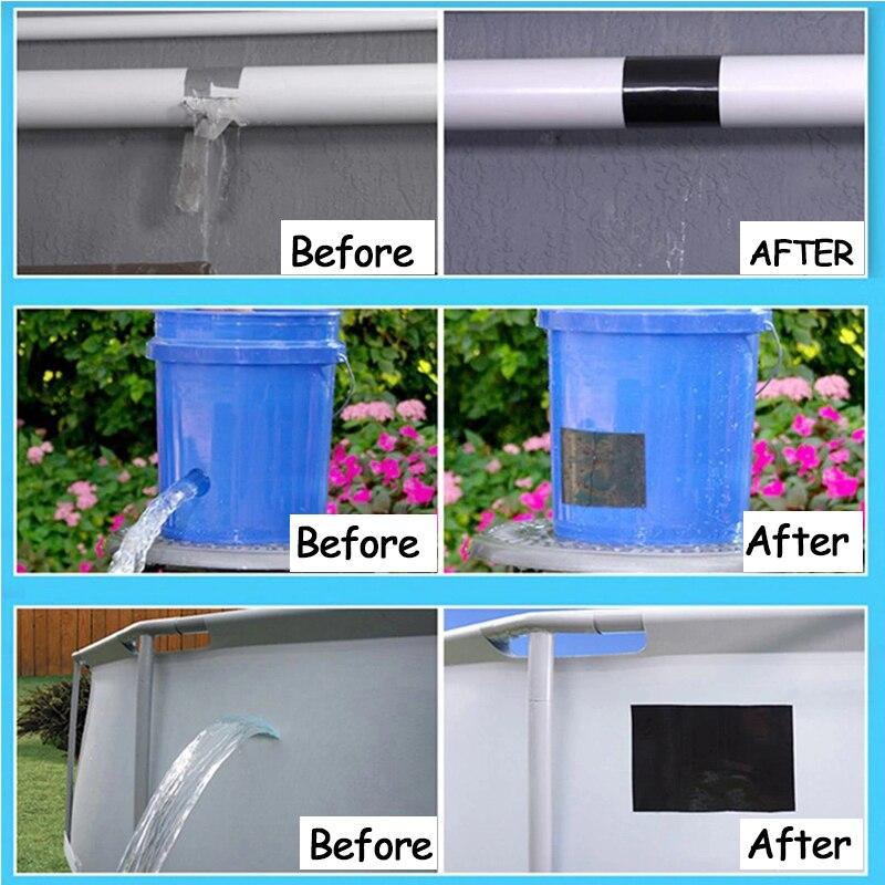 Hd0a97f2e3e904ba7b320d07ea3481f49E - 1pc Tape Stop Leaks Super Strong Fiber Waterproof Seal Repair Tape Performance Self Fix Tape Adhesive Duct Tape