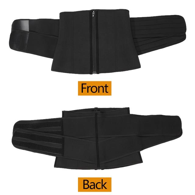 Waist Support Boned Waist Corset Trainer Sauna Sweat Sport Girdles Cintas Modeladora Women Lumbar Shaper Workout Trimmer Belt 5