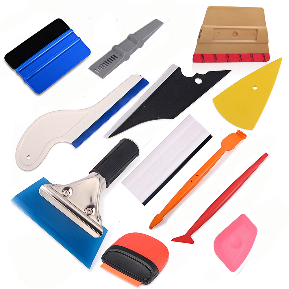 FOSHIO Vinyl Wrap Car Tools Kit Carbon Fiber Magnet Squeegee Car Accessories Window Tint Film Installing Wrapping Tools Set(China)