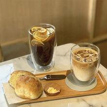 Скандинавская кофейная чашка с двойным стеклом термостойкая